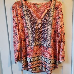 Lucky Brand long sleeve Blouse Size Large